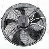 Industrial fan close-up