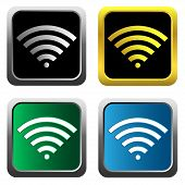 Colorful wifi icons for business or commercial use
