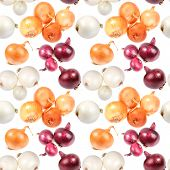 Seamless Pattern Of Multicolored Onions