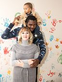 Happy Family: Black Father, Mom And Baby Boy.use It For A Child, Parenting Or Love Concept