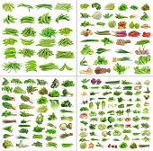 foto of okra  - Fresh Vegetables collection isolated on white background - JPG
