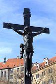 Crucifix Near Cesky Krumlov Castle