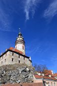 View Of Cesky Krumlov Castle From The Bottom