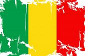 Malian grunge flag. Vector illustration