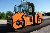 Orange Rolling Machinery Making Road