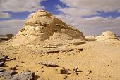 Wind And Sun Modeled Limestones Sculptures In White Desert ,egypt