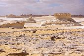 picture of calcite  - Golden sand on the white marl and calcite formations  - JPG