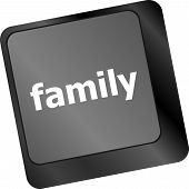 Family Key On Keyboard Meaning Relatives Relations Or Blood Relation