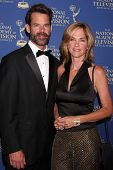 LOS ANGELES - JUN 20:  Tuc Watkins, Kassie DePaiva at the 2014 Creative Daytime Emmy Awards at the B