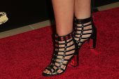 BEVERLY HILLS - JUN 22: Jessica Simpson shoes at The 41st Annual Daytime Emmy Awards at The Beverly