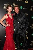 LOS ANGELES - JUN 22:  Ashlyn Pearce, Winsor Harmon at the 2014 Daytime Emmy Awards Arrivals at the