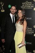 BEVERLY HILLS - JUN 22: Melissa Claire Egan, Matt Katrosar at The 41st Annual Daytime Emmy Awards at