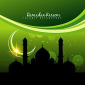 vector green ramadan kareem design background
