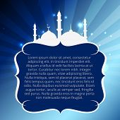 vector muslim mosque with space for your text