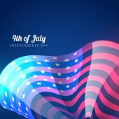 vector american flag icon design