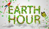Earth Hour leaves particles 3D