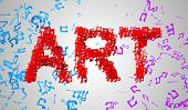 Art Musical Note Particles 3D
