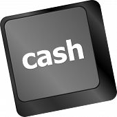 Cash For Investment Concept With A Button On Computer Keyboard