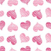 Pink Scribbled Heart Pattern