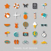 Summer flat design icons