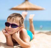 Portrait of boy on the beach