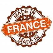 Made In France Vintage Stamp Isolated On White Background