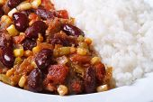 Mexican Cuisine: Chili Con Carne And Rice Macro