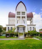 Hakodate, Hokkaido, Japan at historic St. John's Church.