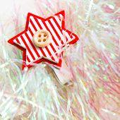 xmas decoration close up star