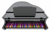 Grand Piano With Color Keys