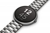Stainless steel luxury smartwatch