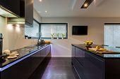 Dark Furniture In Kitchen
