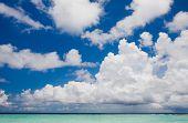 Clouds above the beach in the Indian Ocean, Kuramathi