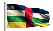 Central African Republic National Flag Isolated 3D White Background