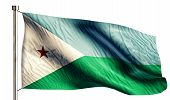 Djibouti National Flag Isolated 3D White Background
