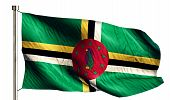 Dominica National Flag Isolated 3D White Background