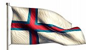 Faroe Islands National Flag Isolated 3D White Background