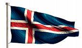 Iceland National Flag Isolated 3D White Background