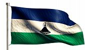 Lesotho National Flag Isolated 3D White Background