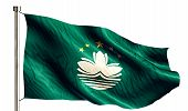 Macau National Flag Isolated 3D White Background