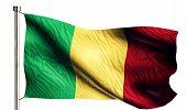 Mali National Flag Isolated 3D White Background
