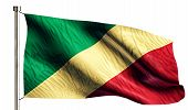 Congo National Flag Isolated 3D White Background
