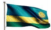 Rwanda National Flag Isolated 3D White Background
