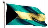 Bahamas National Flag Isolated 3D White Background