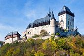 Medieval Royal Gothic Castle Karlstejn Near Prague, Central Bohemia, Czech Republic, Europe