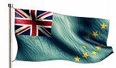 Tuvalu National Flag Isolated 3D White Background