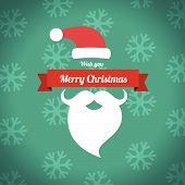 Merry Christmas With Santa Beard