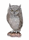 Drawing Owl Sitting On A Tree Stump