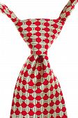Red And White Striped Tie Isolated
