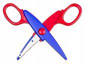 Children's Scissors Isolated On White Background